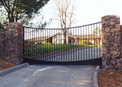 Concave Top Driveway Gates