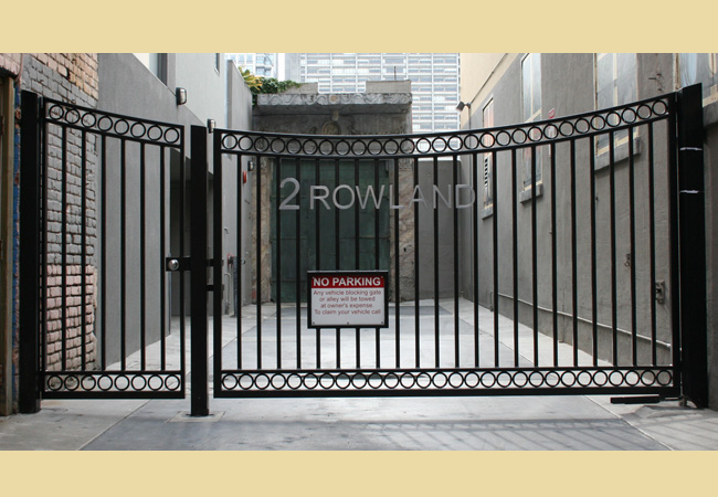 Concave Top Driveway Gates Custom Wrought Iron